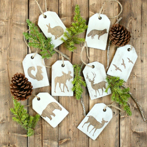 Christmas Wood Ornaments- Wood Ornaments- Woodland Ornaments Collection- Christmas Tree Decorations- Christmas Tree Decorating Ideas-
