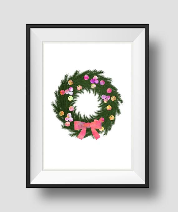 Items Similar To Christmas Wreath Christmas Decoration