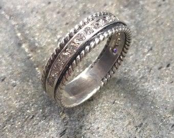 Diamond Band CZ Diamonds Eternity Ring Promise