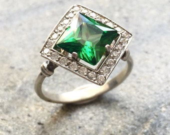 Antique emerald ring Etsy