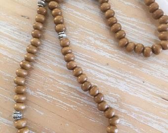 Mala - 108 wooden beads - meditation - yoga - prayer beads