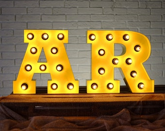 Industrial wall decor large letter light up  FREE SHIPPING