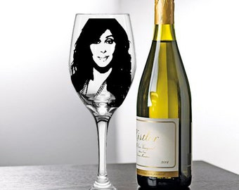 Cher, Painted Wine Glasses, Painted Wine Glass, Hand Painted Wine Glasses, Painted Glasses, White Wine, Red Wine, Stemless Glasses