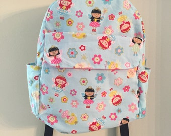 Kids Backpack, Toddler Backpack, Preschooler Backpack, girls Backpack, blue girls