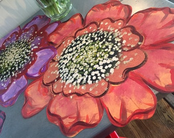Polynesian Peonies - place mats - runner - centerpiece - tablecloth - home decor - linens - tableware - kitchenware - island decor - outdoor