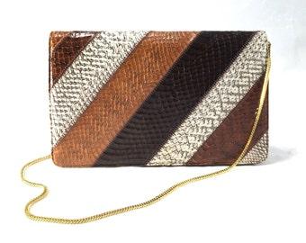 Vintage Snake Skin Bag 2-Way