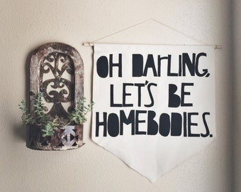 """Large """"Oh Darling"""" Wall Hanging"""