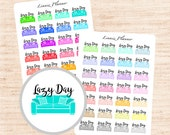 Lazy Day (matte planner stickers, Erin Condren, Happy Planner, Filofax, Kikki K, Carpe Diem)
