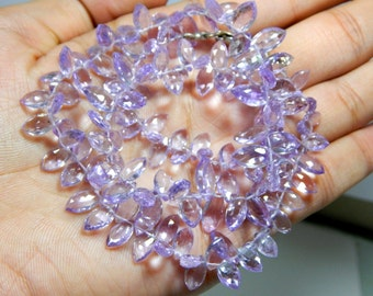 Pink Amethyst Faceted Beads Marquise Shape 100% Natural Gemstone Size 6x12 to 3.2x7.mm Approx  Code - 1012
