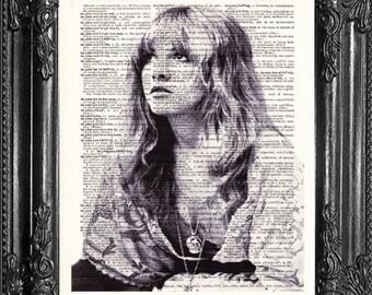 Don Henley und Stevie Nicks Leder und Spitzen leben