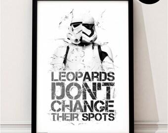 Stormtrooper Art Print, Star Wars Print, Quote, The Force Awakens Art, Storm Trooper, New, Original, Jedi, Sith, Skywalker, Starwars