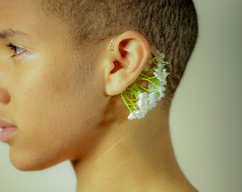 Blossom Whispers Ear Cuff