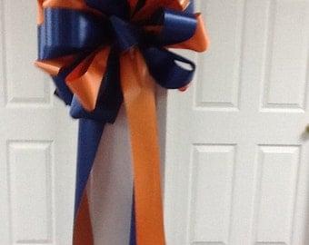 Auburn orange and blue bow