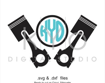 Piston Head SVG cutting file, car mechanic SVG, engine SVG, car garage service svg files for Cricut Explore and Silhouette Cameo files