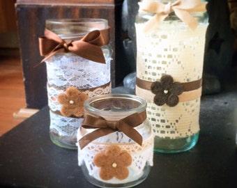 Set of 3 Handcrafted Jars
