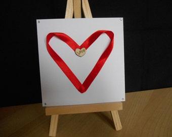 Ribbon Heart card