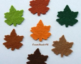 49 Mix Felt Leaves C (7 colors)