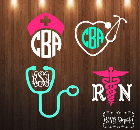 Nurse Svg Group Svg File Nurse Symbols Svg File Split