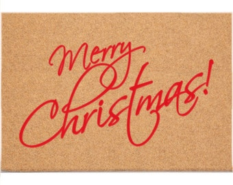 DH9012 - 24 x 36 DuraCoir Holiday Mat - Merry Christmas (Script)