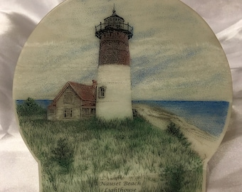 Nauset Beach Lighthouse Plaque Authentic Handcrafted in Tennessee WO-DI 97, 1997.