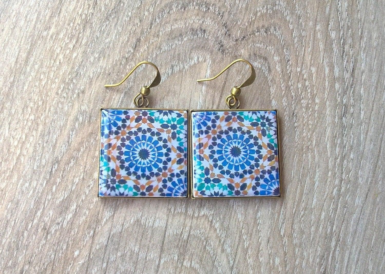 Orecchini marocchino delle mattonelle piastrelle marocchine - Piastrelle marocchine vendita ...