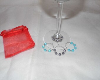 Wine Glass Charms - various  (4 set)