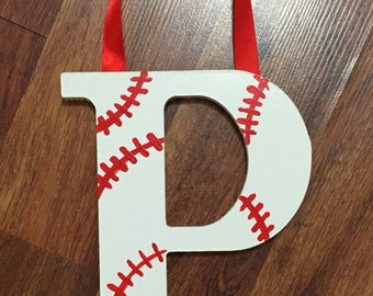 Sports nursery decor, baseball room decor, wall decor, baby boy wood letter, name hanging wall letters, custom name letters, baseball