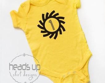 1 Birthday Bodysuit Boy/Girl - First Birthday Baby Shirt - 1st Birthday Shirt Toddler - Sunburst One - One Bday tshirt - Photo Shoot Trendy