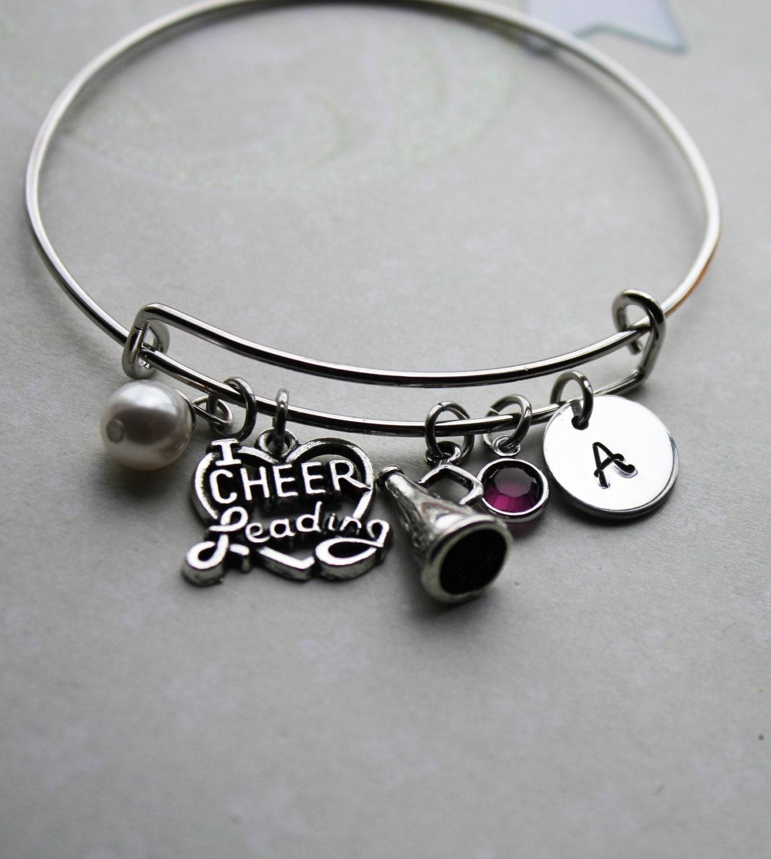 Cheer Charm Bracelets: Cheer Bracelet Cheer Jewelry Cheerleader By Loveherbyalissa