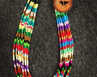 lightweight, multi-colored necklace