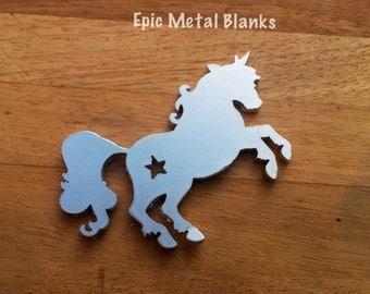 Aluminium Unicorn Blank, Unicorn Stamping Blank,Metal Stamping, Unicorns, Aluminum Blanks, Unicorn jewellery, aluminium Unicorn Blank,