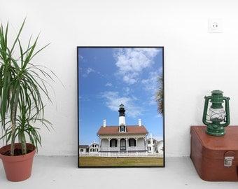 tybee island light station, tybee island, georgia, lighthouse, travel, photography, fine art print