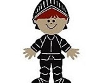 Cricut Die cut Figure Paper Doll Dress Up KNIGHT + 4 Accessories