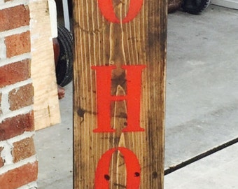Reclaimed wood ho ho ho Christmas sign