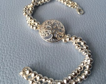 Sterling Silver Bracelet  - Tree of Life    (Code:1680)