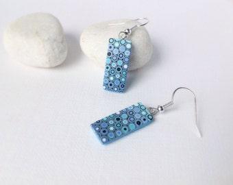 Polymer Clay Earrings, Minimalist earrings, Dangle drop earrings, Polymer clay jewelry, Geometric earrings
