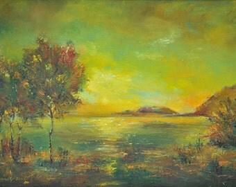 Sunset to lake Sevan