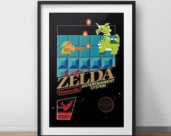 Zelda Original NES Box print