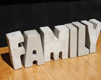 FAMILY  Concrete Word Decoration