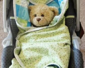 Car seat blanket, infant car seat blanket, flannel car seat blanket, stroller blanket