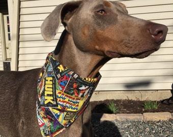 Med/Large Super Hero Comic Dog Bandana