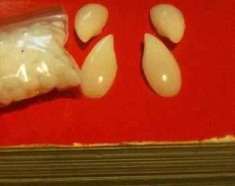 White Werewolf / Wolfman fangs twilight lycan teeth + free 25.00 gift