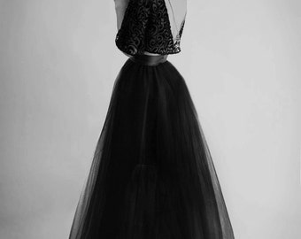 Odile Top, Bridal, Couture, Bat Wing, Open Back, Back Jewelry, Velvet, Chiffon, Lace, Bridesmaid, Gothic, Alternative, Edgy, Separates