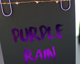 Purple Rain foil print