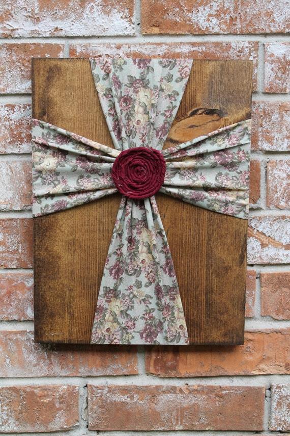 fabric wall cross cross wall decor fabric cross stained wood fabric