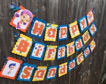 Bubble Guppies Birthday banner