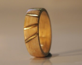 Brass inlayed Bentwood ring