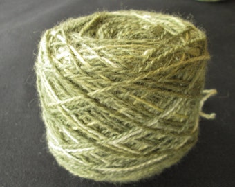 Weldleaf Green and Yellow Space Dyed Sock Weight BFL Yarn