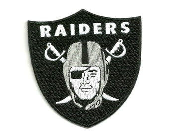 "Oakland Raiders * 3.5"" inch * Embroidered * Iron / Sew on * Applique / Patch * FREE SHIPPING *"