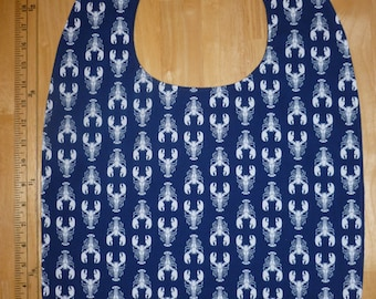 Adult bib / Clothes protector / Special needs bib Model Lobsters blue
